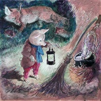 sam pig in love (+ 5 others; 6 illus. from sam pig by allison uttley) by cecil leslie