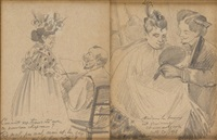 scènes humoristiques (2 works) by henri evenepoel