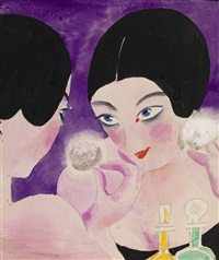 design for a cosmetics advertisement by nikolai andreevich tyrsa