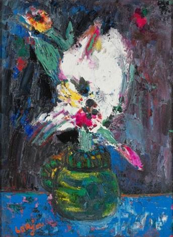 fleurs dans un vase by bernard lorjou