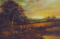 pastoral scene of the english countryside by george hardy