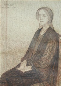 portrait of madame blanche lillian sauter (1864-1924) by léon de smet
