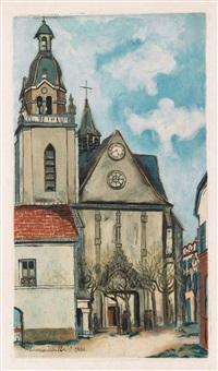 l'église de limours by maurice utrillo
