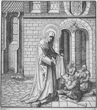 sancta bathildis (from heilige aus dem hause habsburg) by leonhard beck