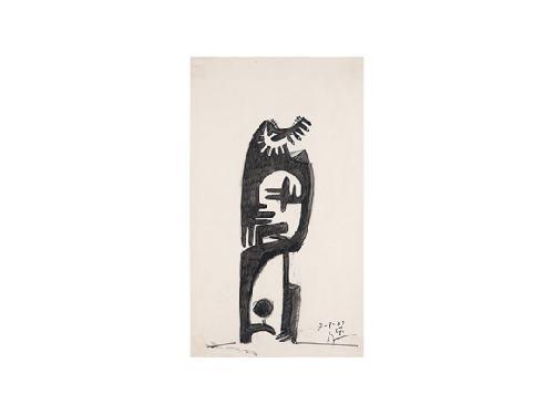 personaje en negro by julio gonzález