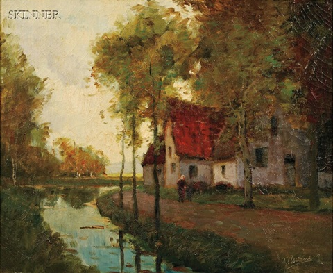 morning light along the canal by anthony thieme