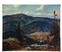 mount monadnock, jaffrey, nh (from little mt monadnock) by charles curtis allen
