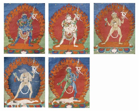 divinités 5 works by anonymous tibetan 19