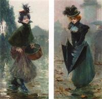 parisien lady in the rain by felix alarcon