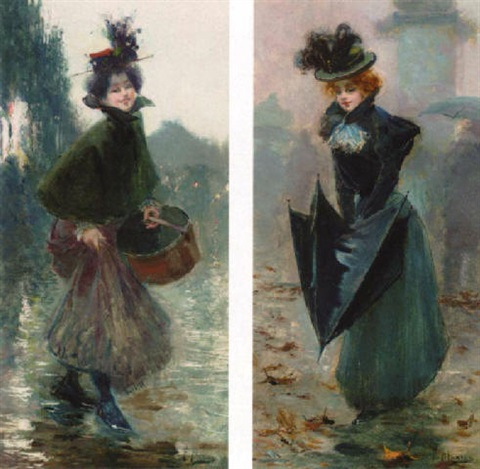parisien lady in the rain by felix alarcon