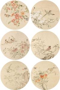花鸟圆光 (6 works) by jiang jianlin