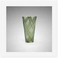 rare tartan vase by ercole barovier