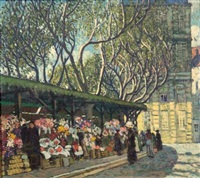 flower market, cannes by frederic clay bartlett