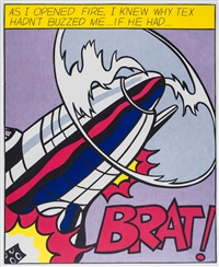 as i opened fired (set of 3) by roy lichtenstein