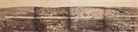 palestine. jérusalem depuis le mont des oliviers. panorama composé de quatre by wilhelm hammerschmidt