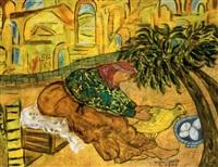 la poule couve ses oufs by ahmed hajeri