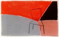 abstrakt illustration med stol by mats gustafson