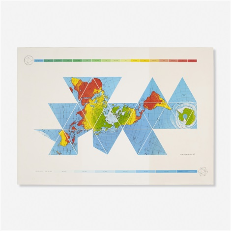 Dymaxion Air-Ocean World Map by Buckminster Fuller on artnet