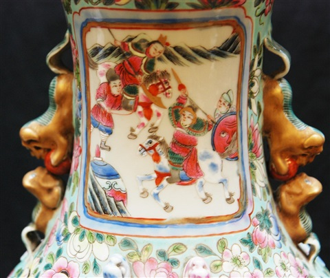pr 19th c chinese famille rose porcelain vases