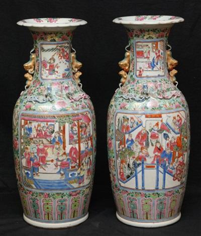 pr 19th c chinese famille rose porcelain vases