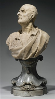 bust of a man by michele fabris