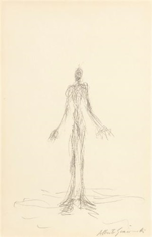 personnage debout by alberto giacometti