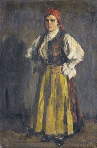stehende bäuerin by ferenc gaal