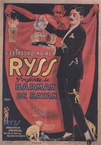 l'extraordinaire ryss présente le barman de satan by posters: circus