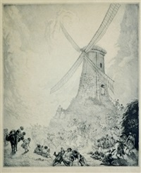 the windmill by norman alfred williams lindsay