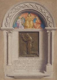 war memorial at albury, surrey by gerald f. metcalfe