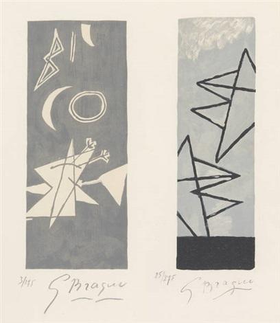 ciel gris 1 et ciel gris 2 (2 works) by georges braque