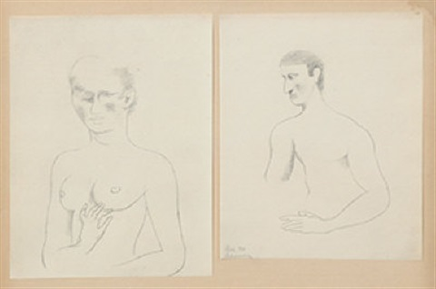 nude studies 2 works by roger de la fresnaye