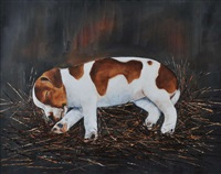 sleeping jack russell by michael smyth