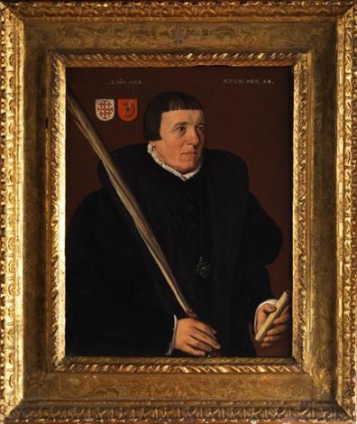 portrait eines herrn aus der konfraternitäts gesellschaft sankt johannes von jerusalem in utrecht by jan van scorel
