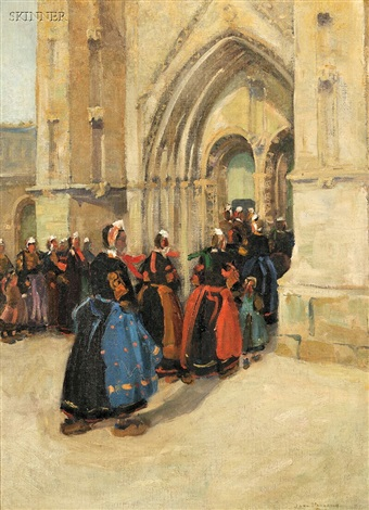 church procession in brittany by jane peterson