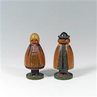 spielzeugfiguren (pair) by ferdinand andri