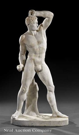 figures of pugilists creugas and damoxenos 2 works by antonio canova