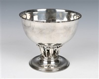 the louvre silver pedestal bowl by georg jensen (co.)