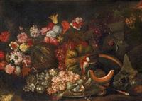 natura morta con fiori e frutti by maximilian pfeiler