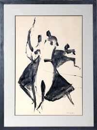 dancing figures by stanley bate