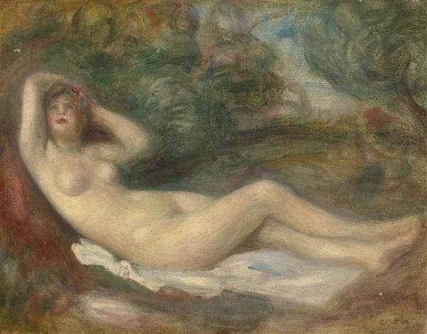 étude de nu by pierre auguste renoir