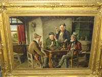 four gentleman playing chess by t. golwig