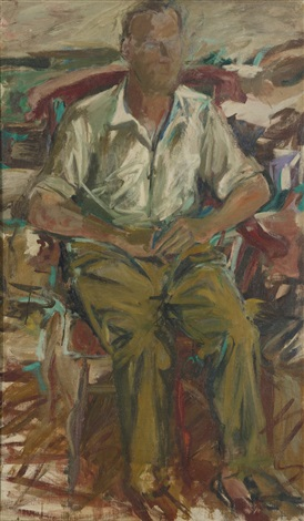portrait of john bernard myers by elaine de kooning