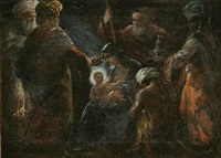 adoration of the magi by fritz gassl