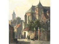 street scene by hermanus koekkoek the younger