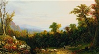 landscape with figure by paul ritter