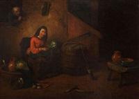 scène de cuisine avec voyeur by félix van den eycken