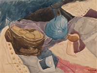 still life with a blue jar by fedor platov