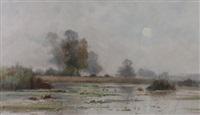 river scene by edouard lemaitre
