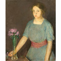 girl with vase by charles webster hawthorne